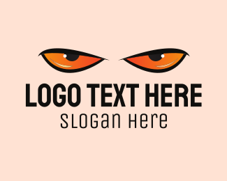Scary - Angry Eyes logo design