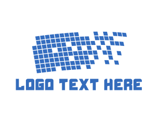 Database - Pixel Flag logo design