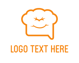 Bake - Chef Chat logo design
