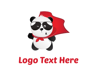 Wink - Panda Hero logo design