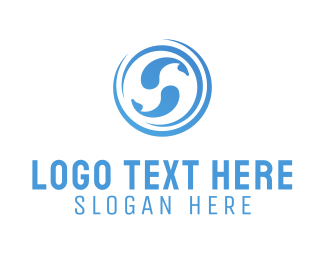 Fishbowl - Blue Fishes logo design