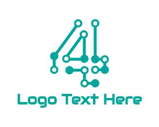 Motherboard - Circuitry Number 4 logo design