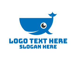 Aquarium - Blue Whale logo design