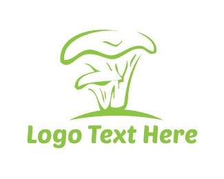 Green Mushroom Logo