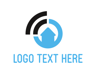 Modem - Home Signal logo design