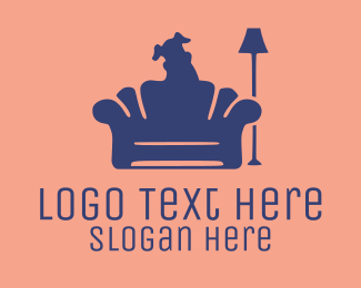 Furniture - Dog Silhouette logo design