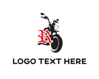Racing - Black Motorcycle logo design