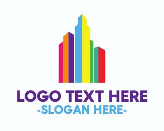 Paint - Rainbow Town logo design