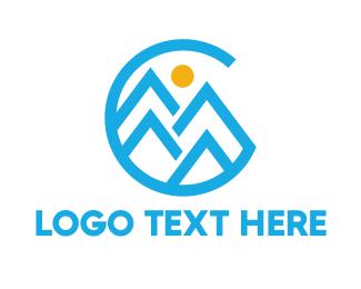 Fjord - Circle Mountain C logo design