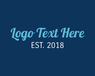 Text - Stylish Blue Text logo design