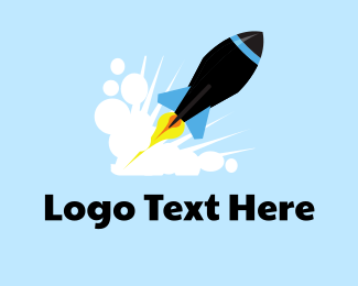 Launch - Black Rocket logo design