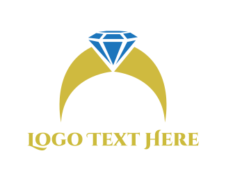 Diamond - Diamond Ring  logo design