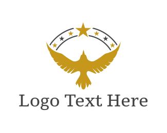 Falcon - Golden Eagle logo design