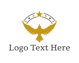 Veteran - Golden Eagle logo design