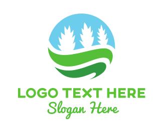 Pine Tree - Plant Circle logo design