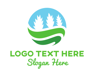 Pine Tree - Plant Circle logo design