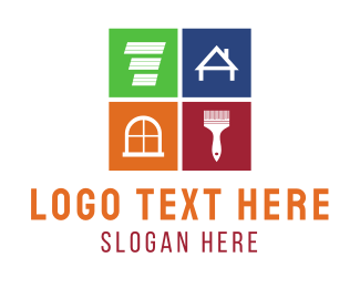 Drywall - Home Remodeling logo design