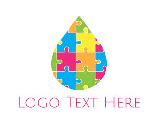 Diversity - Puzzle Drop logo design