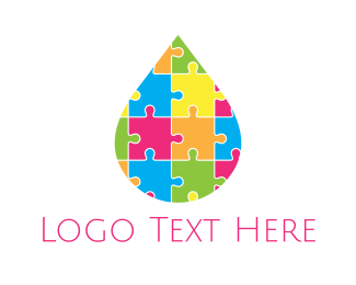Daycare - Puzzle Drop logo design