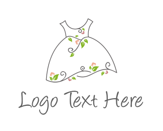 Fabric - Natural Dress logo design