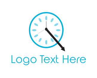 Hour - Blue Clock logo design