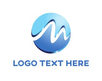 """Wave Letter M"" by creativemindkiller"