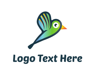 Digital Media - Green Hummingbird logo design