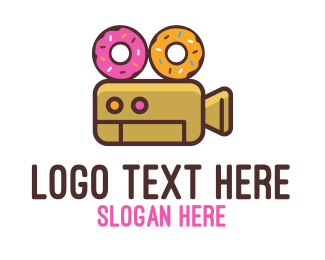 Donut - Donuts & Movies logo design
