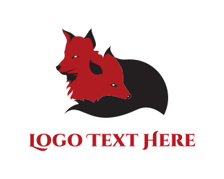 Red Fox - Little Foxes logo design