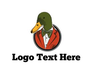 Bow Tie - Fashion Duck logo design