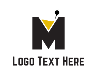 Mixologist - Cocktail Letter M logo design