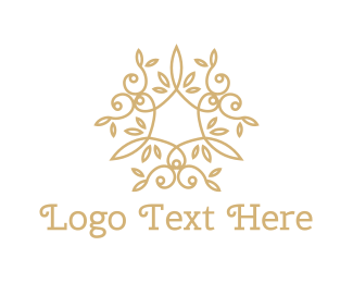 Luxury - Golden Leaves logo design