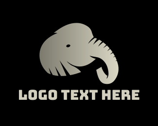 Black And Gray - Grey Elephant logo design