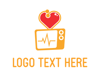 Stethoscope - Heart Screen logo design