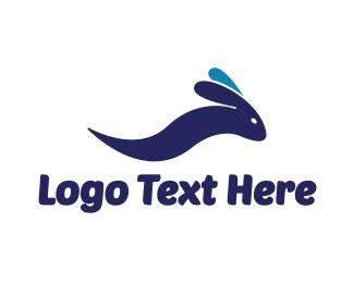 Hare - Wave Rabbit logo design