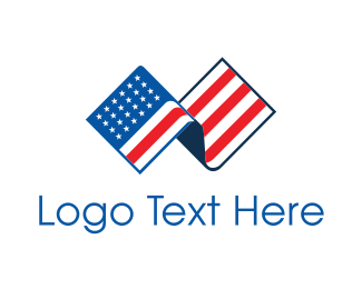 Patriotic - American Flag logo design