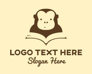 Monkey - Monkey Book logo design