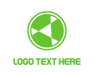 Cryptocurrency - Green Circle Rotor logo design