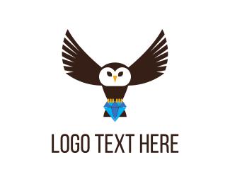 Owl & Diamond Logo