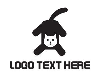 Black Cat - Black & White Cat logo design