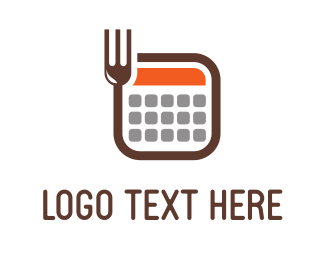 Mathematics - Fork Calculator logo design