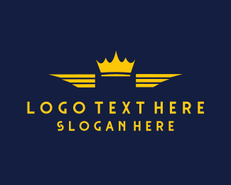 Royalty - Winged Crown logo design