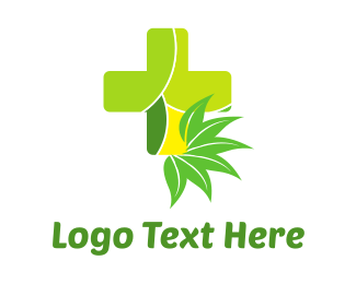Medic - Natural Green Cross logo design