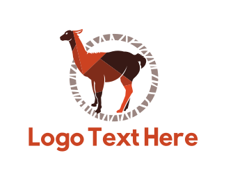 Black And Brown - Brown Llama logo design