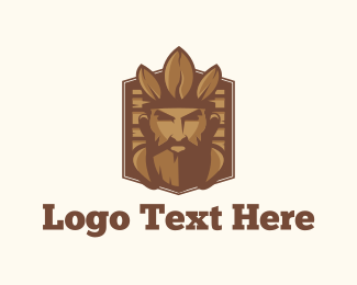 God - Coffee King logo design