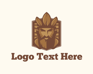 Coffee Bean - Coffee King logo design