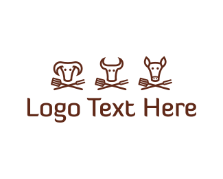 Meat - Steak & Grill  logo design