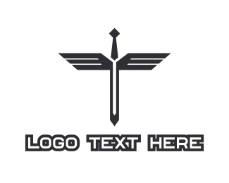 Pubg - Sword Wings logo design