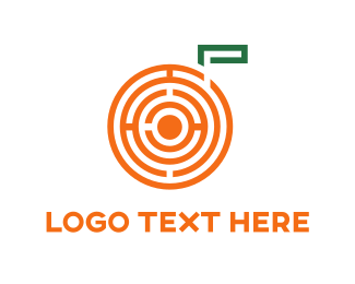 Green And Orange - Orange Maze logo design