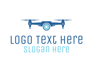 Drone - Spy Blue Drone  logo design